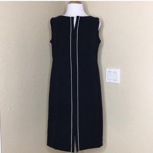 ESCADA Vintage Navy A Line Sleeveless Wool Dress
